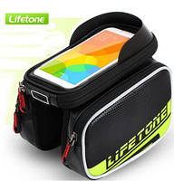 LIFETONE 6 0 Inch Touch Screen Bicycle Front Tube Saddle Bags PU Material Waterproof Bike Saddle