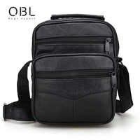 Genuine Leather Messenger Bags Men Casual Business Crossbody Shoulder Bag Man Handbags Black Sacoche Homme Bolsa Masculina MBA12