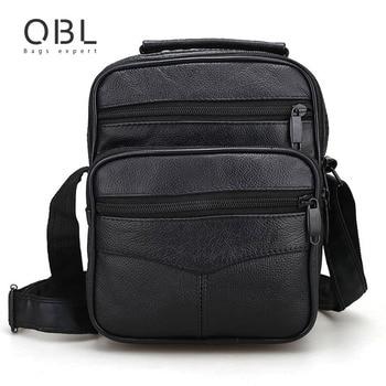 004e0c21225 Echt Leder Messenger Bags Mannen Casual Business Crossbody Schoudertas Man  Handtassen Zwart Sacoche Homme Bolsa Masculina