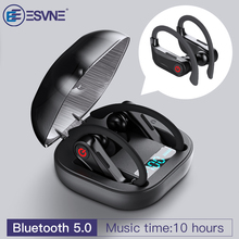 ESVNE TWS 5.0 Bluetooth wireless earphones 3D Stereo bluetooth headphones Sports earbuds with Power dispaly