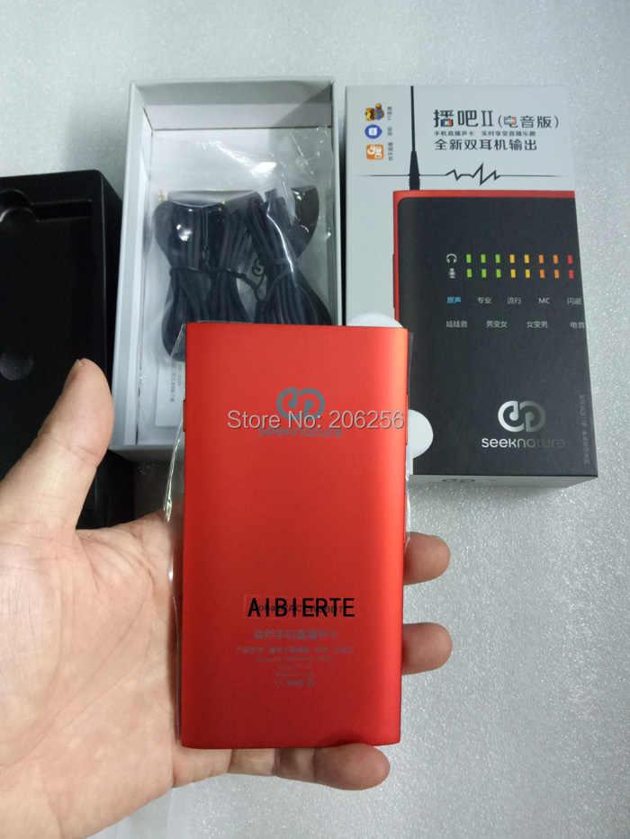 Аудио версия красный + черный трансляция II Второе поколение мобильного телефона живой звук карты Эндрюс для мобильного телефона песня K live Ma