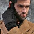 Inglaterra otoño invierno hombre nuevo clásico de lana 3 M forro clásico regalo de la navidad de conducción de algodón piel de oveja guantes calientes mitones