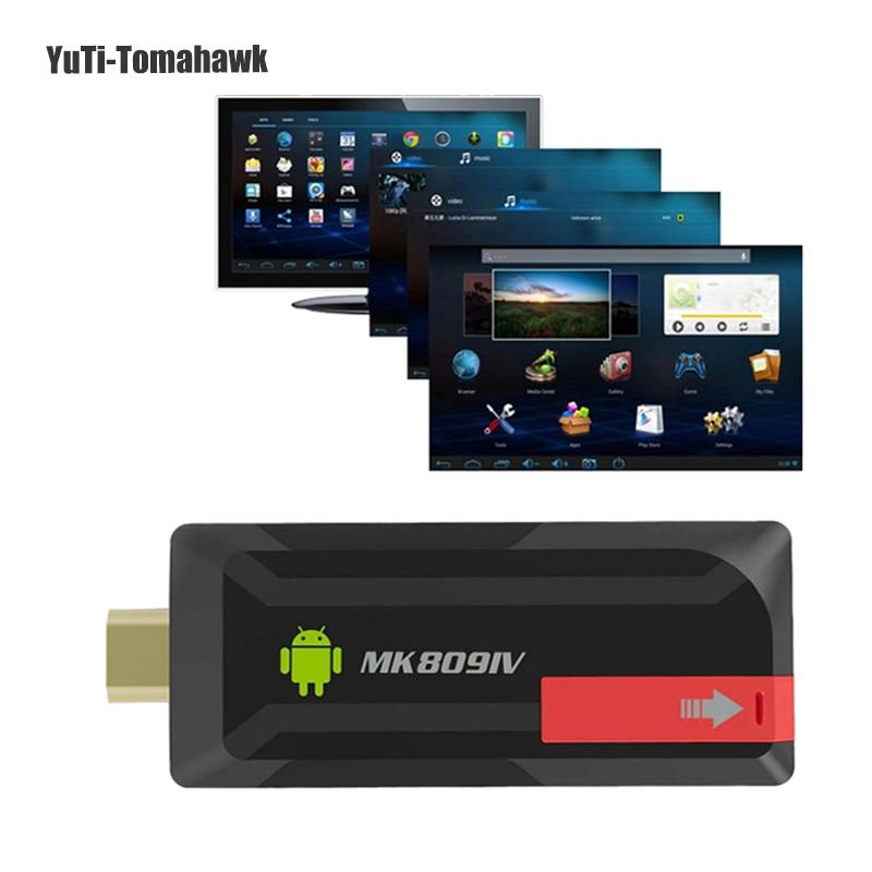 Горячие MK809IV Smart ТВ 2 ГБ/8 ГБ Android ТВ коробка Беспроводной HDMI ключ андроид мини-ПК 4 ядра RK3188T WI-FI Bluetooth ТВ Stick