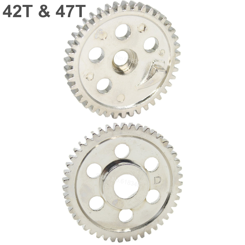 06033 06232 HSP Metal Spur Gear (42T) & (47T) For RC 1/10 Off-Road Buggy Nitro Car Backwash Warhead 94166 94106 Upgrade Parts hsp 1 10 rc 1 10 car off road on road truck buggy metal motor gear spare parts rc parts 11119 17t 11120 18t 11153 11173 gears