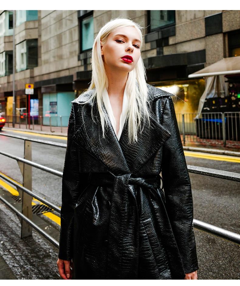 Mode marque Imitation crocodile modèle pu veste en cuir
