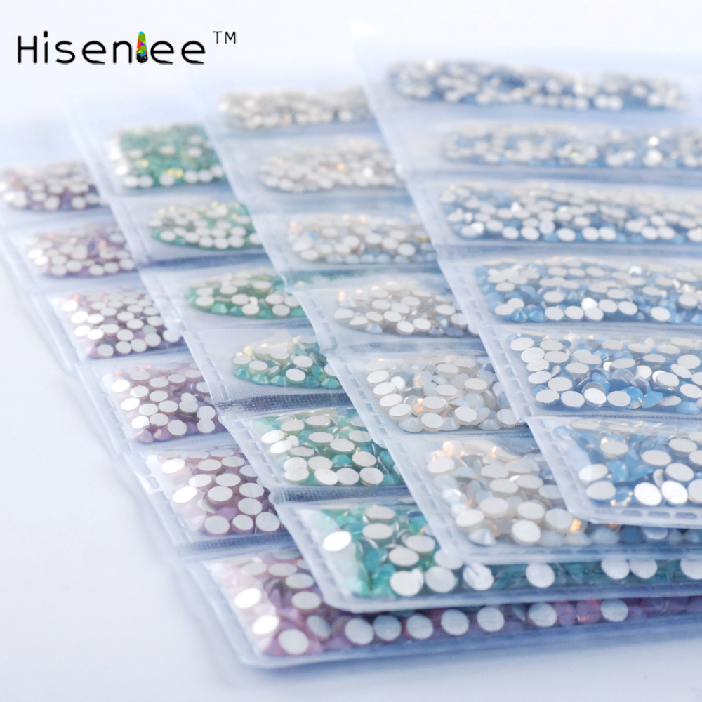 Flat glass Rhinestones ss3-ss10 6sizes White Blue Pink Green Opal Nail Art Rhinestones Bottom Manicure 3D Nail Art Decoration 4 6 waterdrop shape 3d nail art sharp bottom glass rhinestone nail tip decoration phone decor accessories 10pc