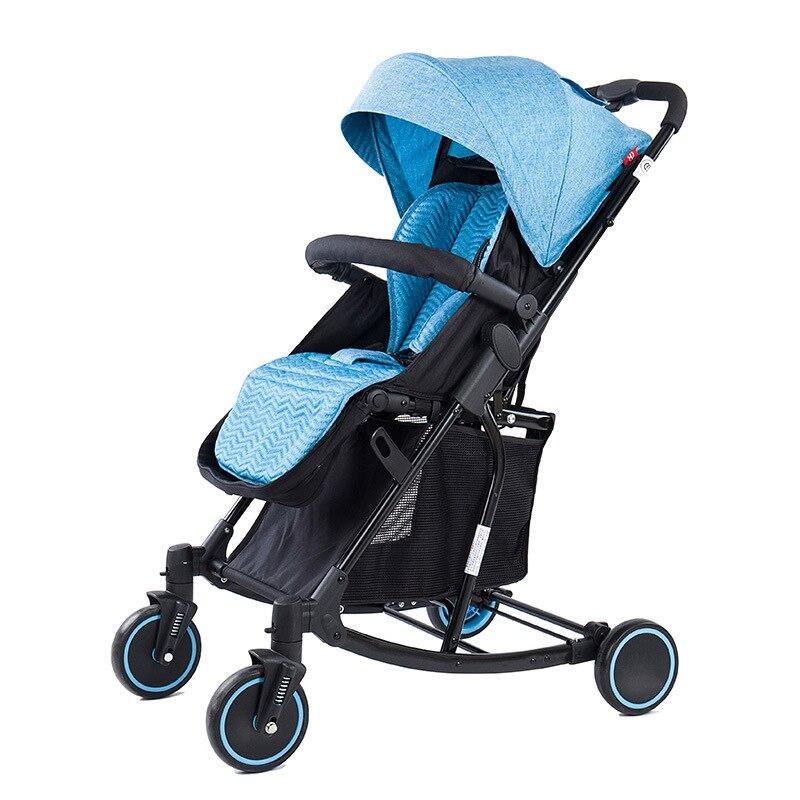 Multifonctionnel 2019 mise à niveau légère poussette peut balancer un bouton pour recueillir quatre roues chariot poussette pliable bébé voiture