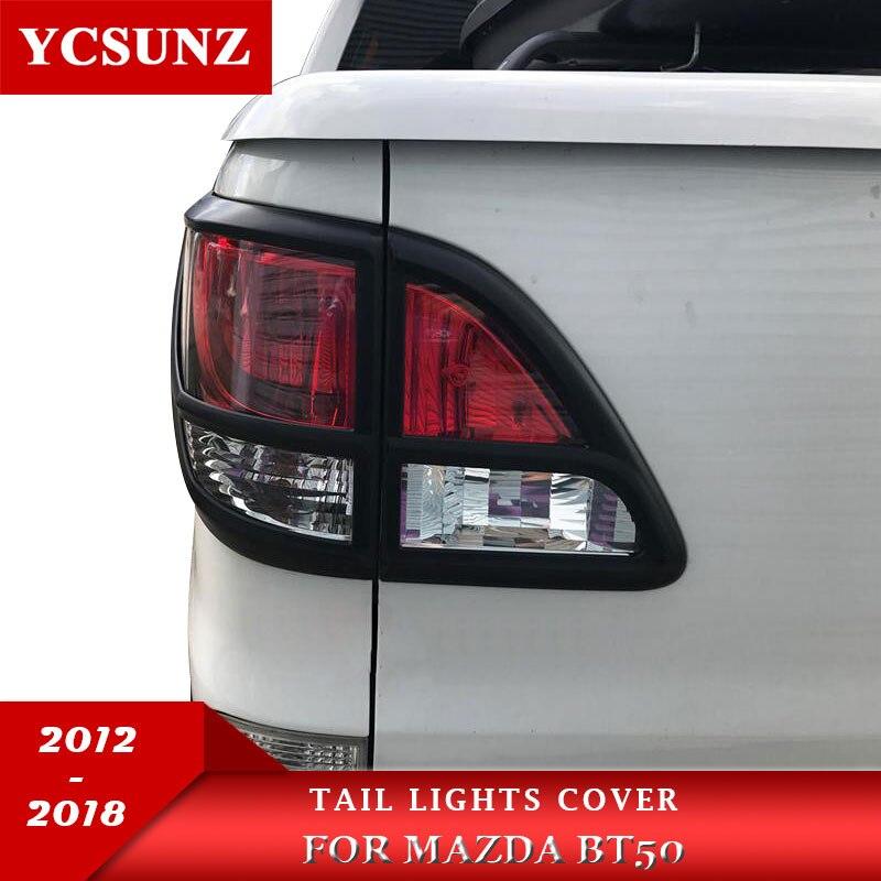 2018 For Mazda BT50 Accessories Matte Black Rear Lamp Lights Cover For Mazda BT 50 2012
