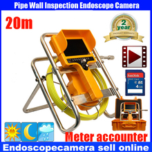 20M Waterproof Sewer Pipe Inspection DVR Camera System Industrial Video Snake Endoscope Borescope  meter counter Camera