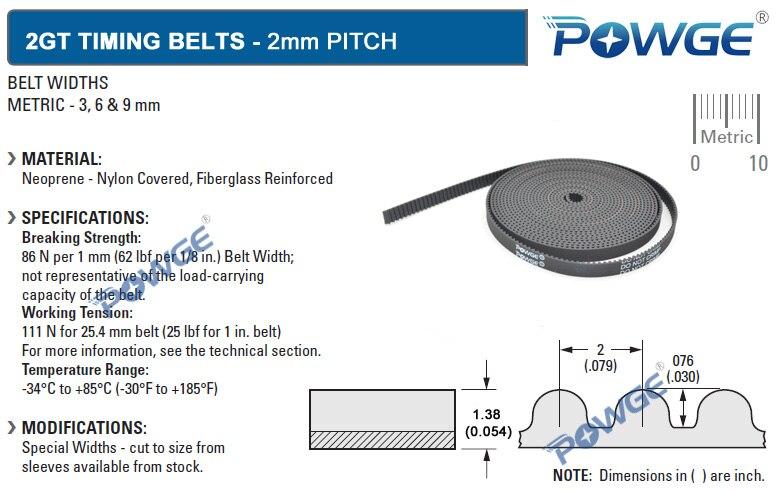 powge gt2 open timing belt width 6mm 2gt belt pulley used in linear rh aliexpress com gt2 toothed idler pulley gt2 timing belt pulley cad