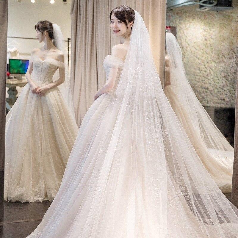 New Arrival Vingtage Tail Lace Wedding Dresses 2019 Vestido De Noiva Custom-made Plus Size Wedding Gowns Tulle Vestido De Noiva