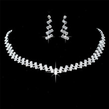 Wedding Jewelry Crystal Bridal Gifts Choker Necklace Earring