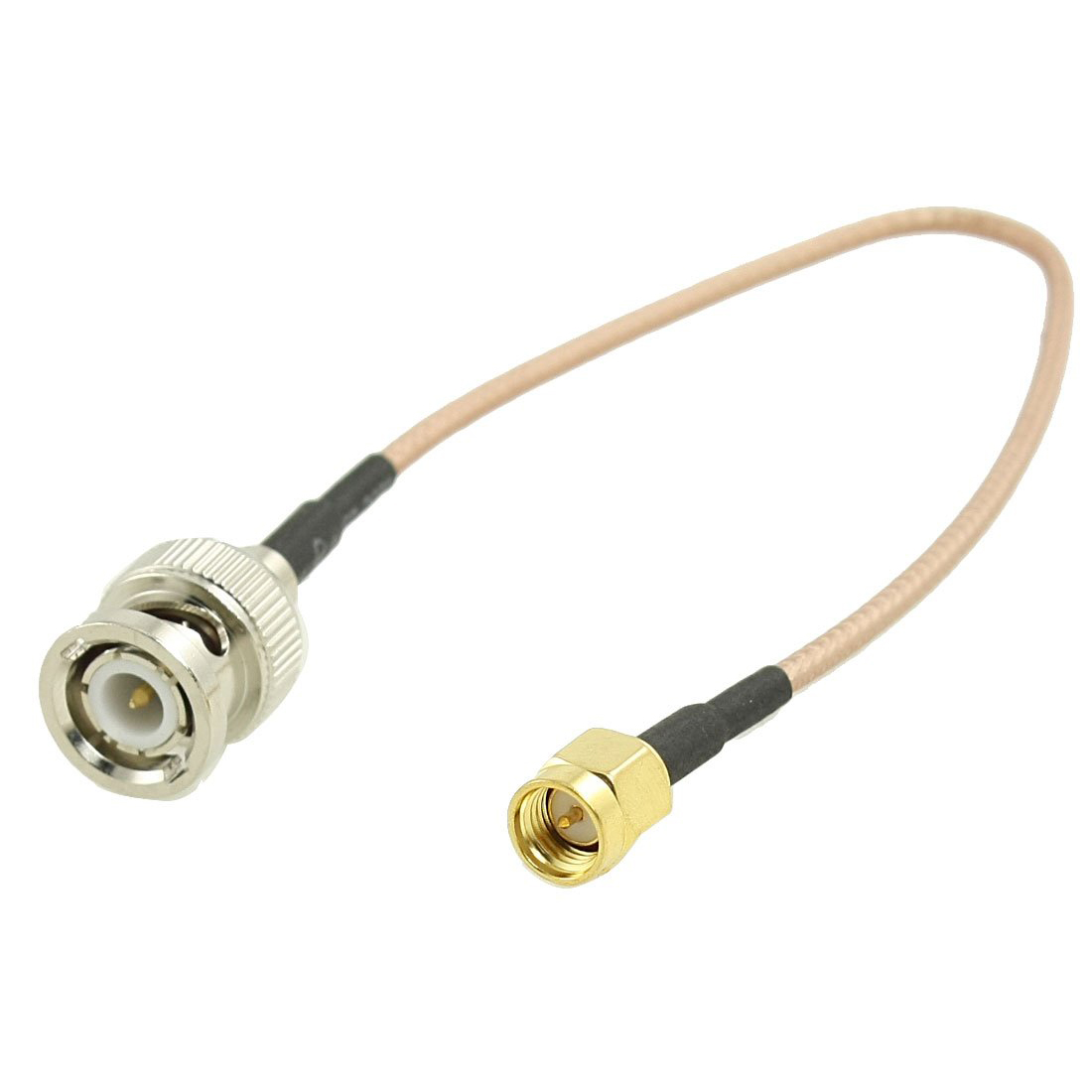 IMC Hot Gold-Plated BNC Male to SMA Male Connector Coaxial Cable 8.8 bnc straight cable connector 2 pack