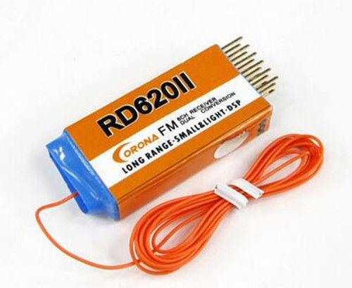 Corona RD620II 72 MHz/72 m FM Receptor de Dupla Conversão de Longo alcance W/O cristal