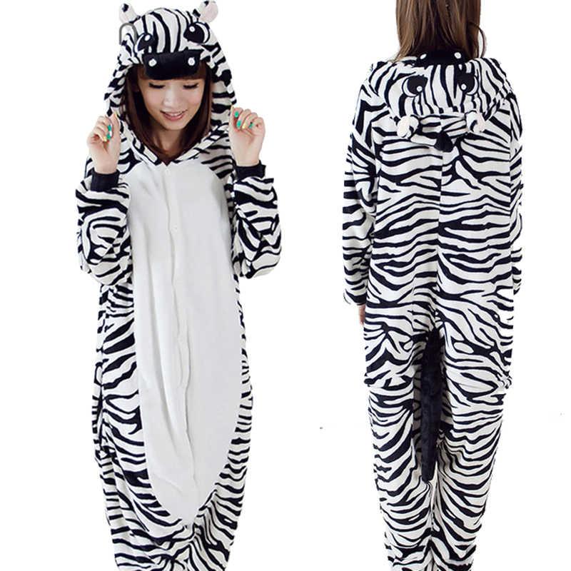 Kigurumi Unicorn Women Pajamas Sets Winter Flannel Cute Animal Pajamas  Women Cartoon unicornio Cosplay Onesies Costume 7cd22f590