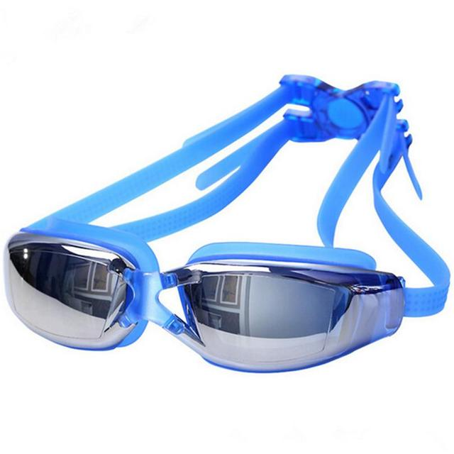 Electroplating UV Waterproof Antifog Swimwear Eyewear Swim Diving Water Glasses Gafas Adjustable Swimming Goggles Women Men A020