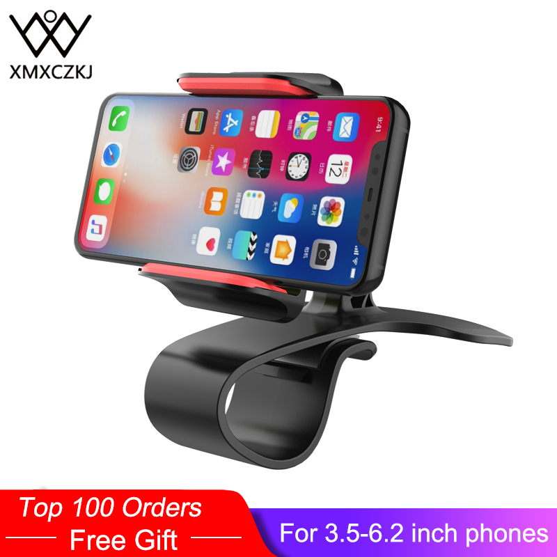 XMXCZKJ Universal Car Dashboard Cell Phone Mount Holder HUD Stand Phone GPS Navigation Support Stand Accessories For Iphone X