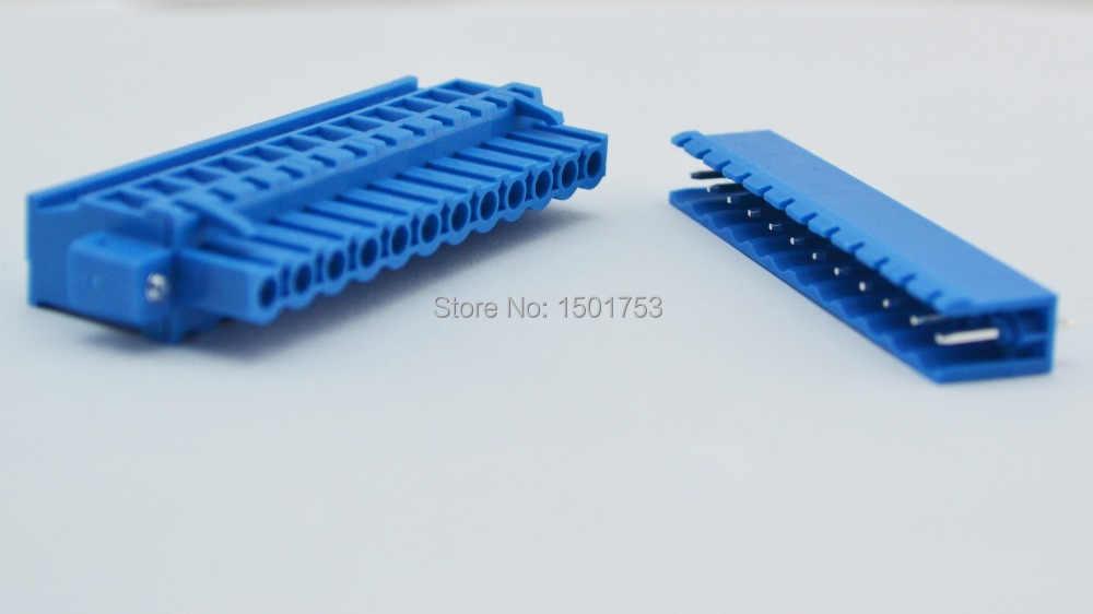 5.08 мм Шаг 12 Pin 12 способ Высокое качество, голубой цвет клеммный блок разъем