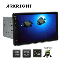 2 Din HD ARKRIGHT 9 Inch Universal Car Head Unit GPS Navigation Andriod 8.0 PX5 Octa Core Car Radio Audio With Multi languages