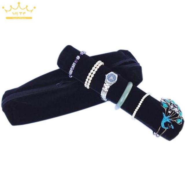 Organizer Mannequin Black Superior Soft Jewelry Display Roll Bags