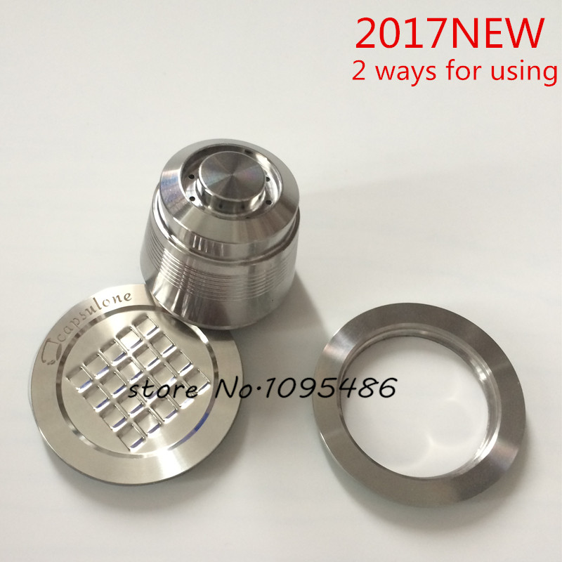 new arrive/2 way use/free shipping Capsulone Stainless Steel Metal capsule compatibke Nespresso coffee Machine