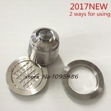 Neu kommen/2 way verwenden/freies verschiffen Capsulone Edelstahl Metall kapsel compatibke Nespresso kaffee Maschine