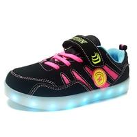 USB Rechargeable Tenis Led Feminino Basket Led Light Up Trainers Kids Boy Girl Luminous Led Sneakers