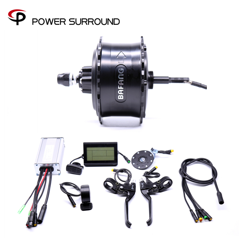 2019 Rushed Waterproof 48v750w Bafang FAT Rear Electric Bike Conversion Kit Brushless Motor Wheel with EBike