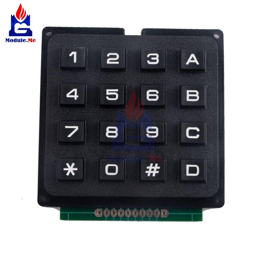 Integrated Circuits Active Components 4 Plastic Keys Switch For Arduino Controller Goods Of Every Description Are Available 4x4 Matrix Keyboard Keypad Module Use Key Pic Avr Stamp Sml 4