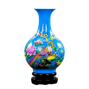 Image 3 - Jingdezhen Porcelain Flower Vase Ceramic Flower Holder 13 Models Choosing Home Desk Christmas Decoration