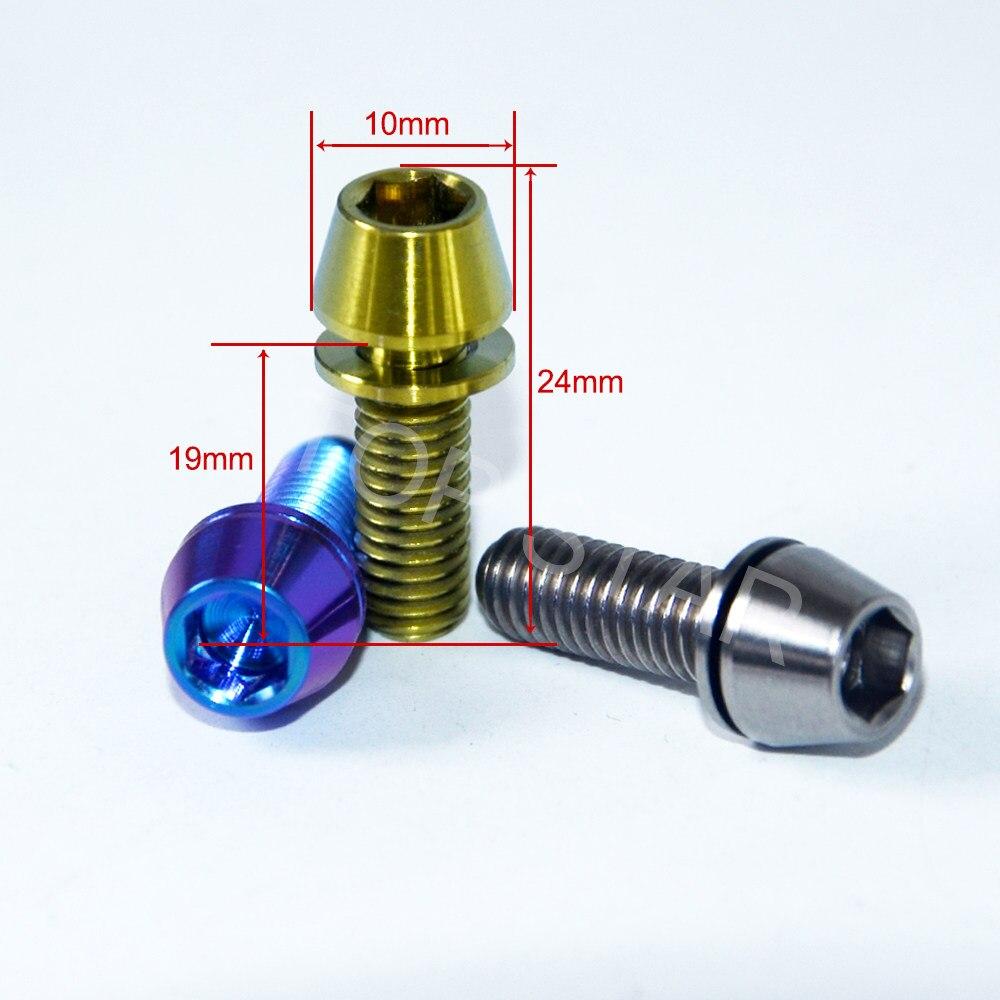 Online Shop Paduan Titanium Baut Sekrup M6 X 20 Mm Bola Meruncing Rem Pencuci Mesin Cuci Grade5 Bolt 18 Tapered Conical Kepala Untuk Sepeda Stang