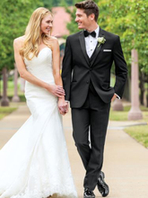 Traje De Novio 2016 New Custom Made Handmade Black Tuxedos Grooms Suits Wedding Suits Formal Party Suits Evening Suits