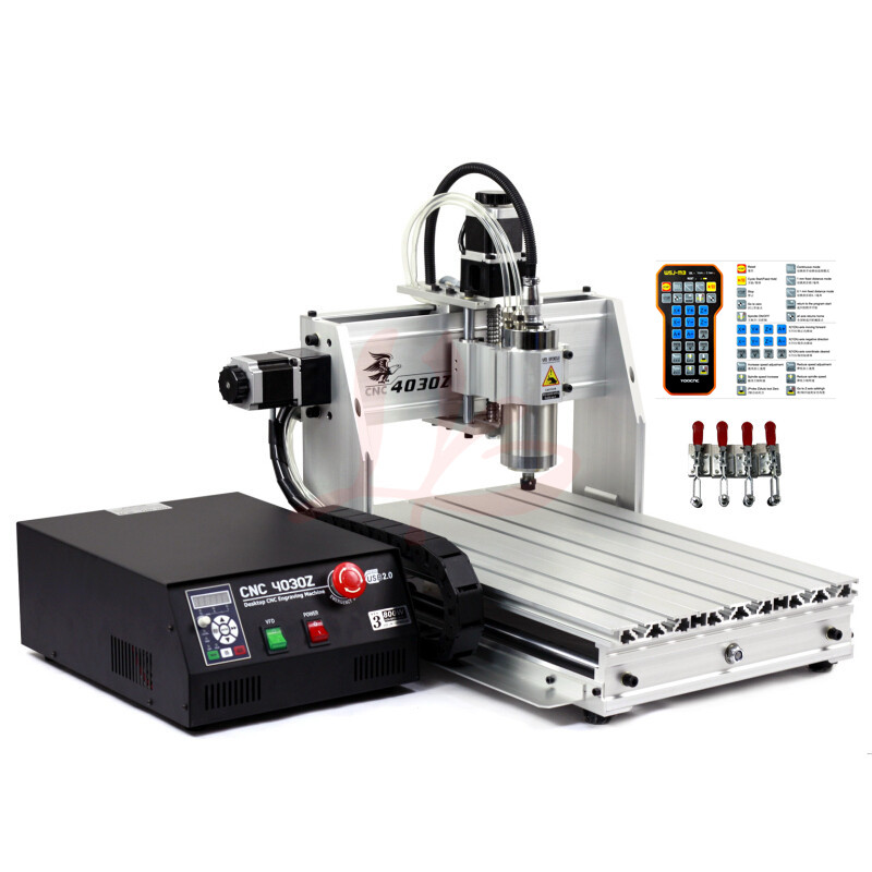 4axis 1.5KW mini cnc milling machine 4030 USB port spindle ER11 engraving router 3040 with limit switch 500w mini cnc router usb port 4 axis cnc engraving machine with ball screw for wood metal