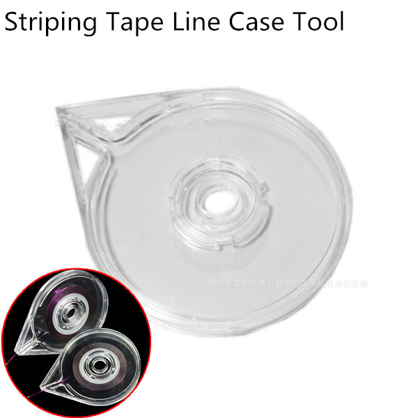 WUF 1Pc Nail Art Striping Tape Line Case Tool Sticker Box Holder Easy Use Design DIY Useful ...