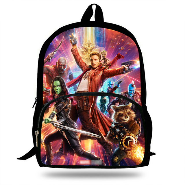 16inch Hot Sale Superhero Bags For School Kids Guardians of the galaxy  Backpack For Boys Girls ebc753082f02f