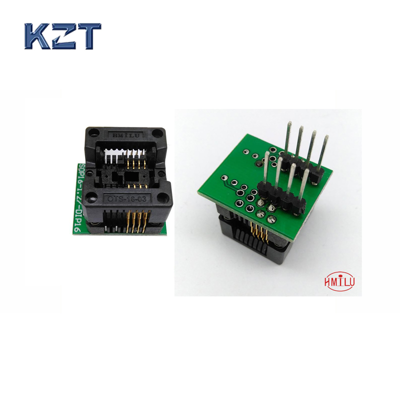 SOP8 SOIC8 SO8 to DIP8 EZ Programer Socket Pitch 1.27mm IC Body Width 3.9mm 150mil IC Test Adapter EZ CH341A CH341 sop8 to dip8 programming adapter socket module black green 150mil