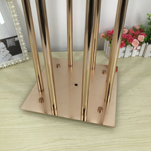 8 Heads Metal Candelabra Candle Holders Acrylic Wedding Table Centerpieces Flower Stand Candle Holder Candelabrum For Home Decor