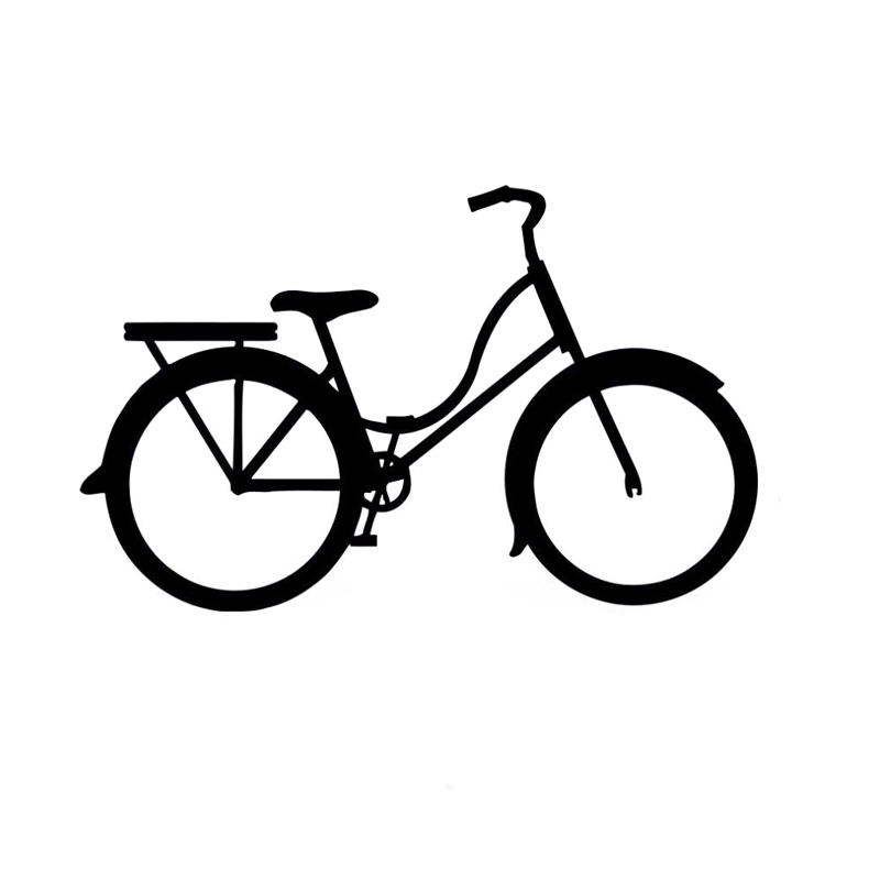 14.9CM*9.4CM Fashion Decor Bike Car Sticker Vinyl Black