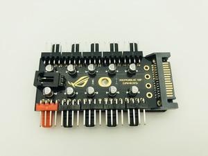 Image 4 - 最新 1 に 10 PC 冷却ファンハブスプリッタ LED ケーブル PWM SATA 12 V 電源スピードコントローラアダプタ bitcoin Miner のマイニングのための