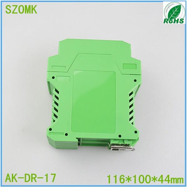 1 piece, electrical plastic instrument enclosure 116*100*44mm plastic PLC green enclosure box plastic electrical product accessory part mold