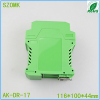 1 piece, electrical plastic instrument enclosure 116*100*44mm plastic PLC green enclosure box