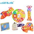 Designer 89 pcs Mini Blocos de Construção magnético com 1 Bolso Presente de Aniversário para Crianças Crianças Brinquedos Educativos Lightaling