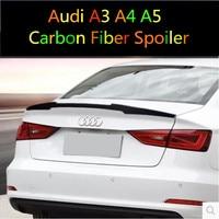 Carbon Fiber REAR TRUNK LID AERO WING SPOILER FOR Audi A3 S3 A4 B8 B9 A5 2DOOR 4DOOR by EMS
