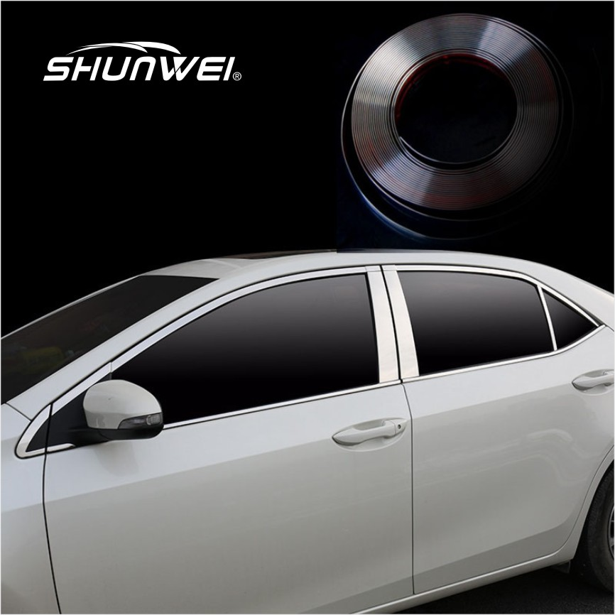 car exterior decoration accessories 6 30mm x15m car chrome styling sticker moulding trim 10514