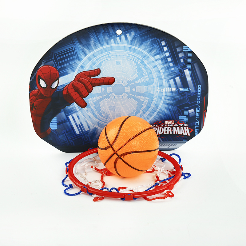 Disney Marvel Spiderman Kids Educational Toys Basketball Board Hoop Sports Toys Basketball for Boys Children Gifts with 2 Balls