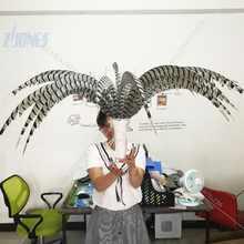 ZJONES Wholesale 50pcs/lot 32-36inch(80-90cm) Natural Good Quality Zebra Pheasant Feather for Carnival Decoration Headdress