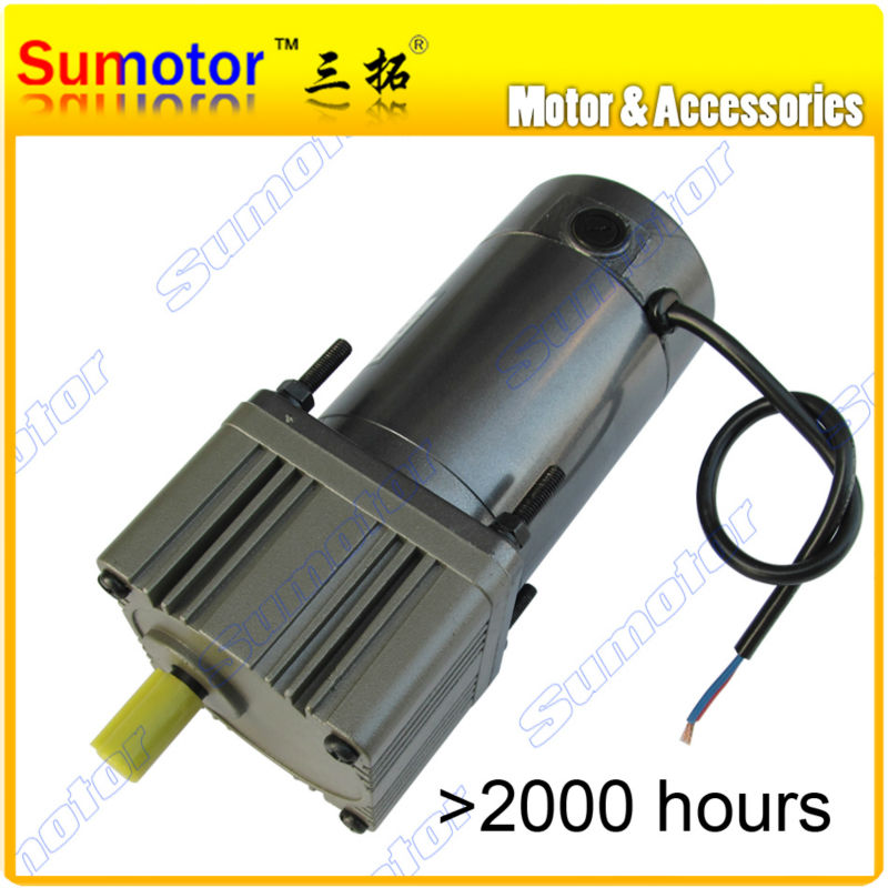 DC 24V 200W High Torque gear reducer DC Motor Eletric machinery for Industry machine reversible adjustable speed optional gw38zy dc 12v 24v worm gear motor double shaft low speed high torque geared box electric engine for diy robot rc car tank model
