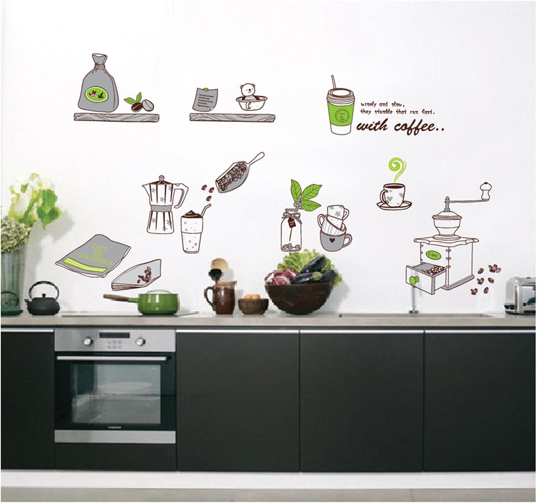Online kopen wholesale koffie muurstickers uit china koffie ...