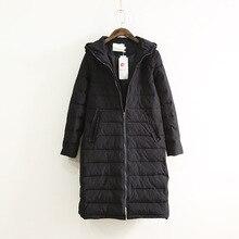 Женщины основные зимние пальто Куртка С Капюшоном Черный толстый теплый с длинным Рукавом хлопка ватник женский дамы winterjas