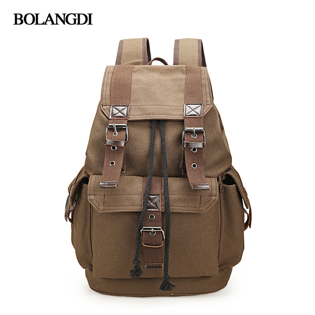 1436ba96e8 2018 New Fashion Women Backpack Vintage Canvas Backpack School Bags Casual  Men s Travel Bags Large Capacity Travel Backpack bag